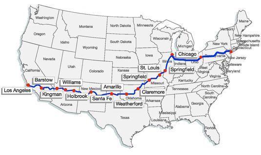 mapa ruta66