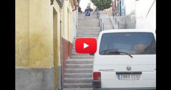 bajar escaleras silla de ruedas