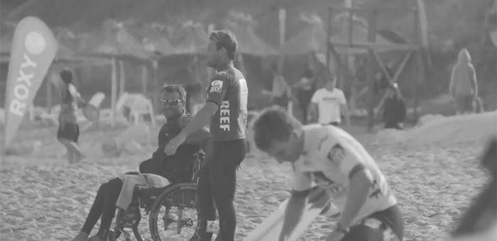 Surfista parapléjico