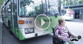 discapacitada para autobus