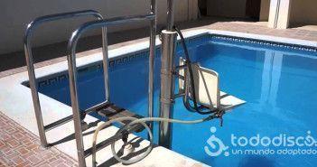silla hidraulica piscina
