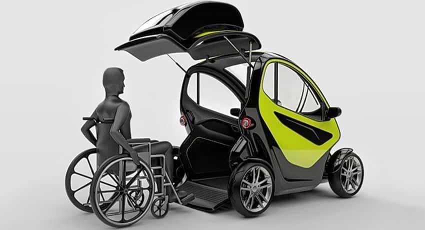 Equal coche para persona con discapacidad en silla de for Coche con silla de auto