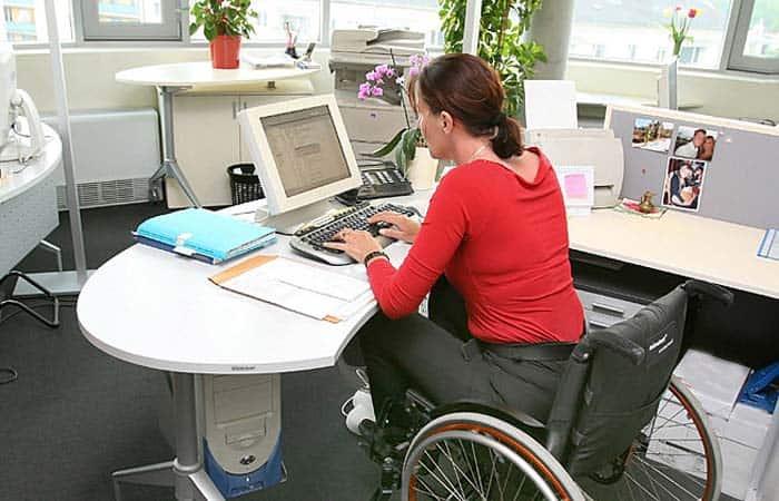 empleada con discapacidad