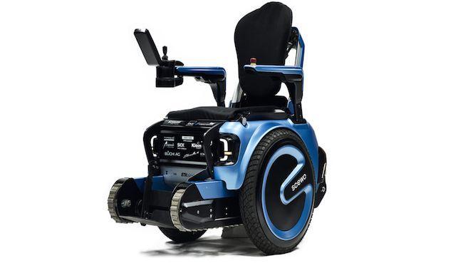 Scewo la silla de ruedas que puede subir escaleras sin - Sillas para subir escaleras personas mayores ...