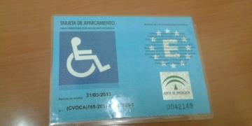 Tarjeta PMR retirada por la Policía Local de Jerez