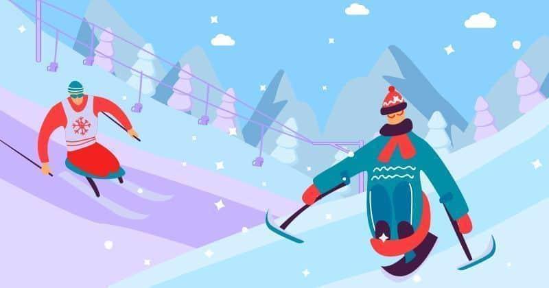 Esquí alpino adaptado. Imagen propiedad TODODISCA © Licencia Bigstock