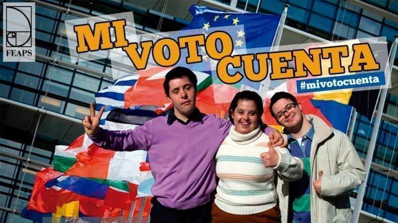 """Imagen: Campaña """"Mi voto cuenta"""" de FEAPS."""