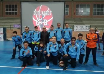 Algunos miembros del equipo Aderes Burjassot