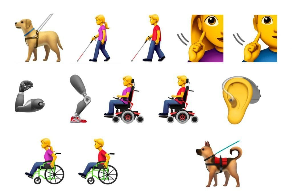 Emojis discapacidad