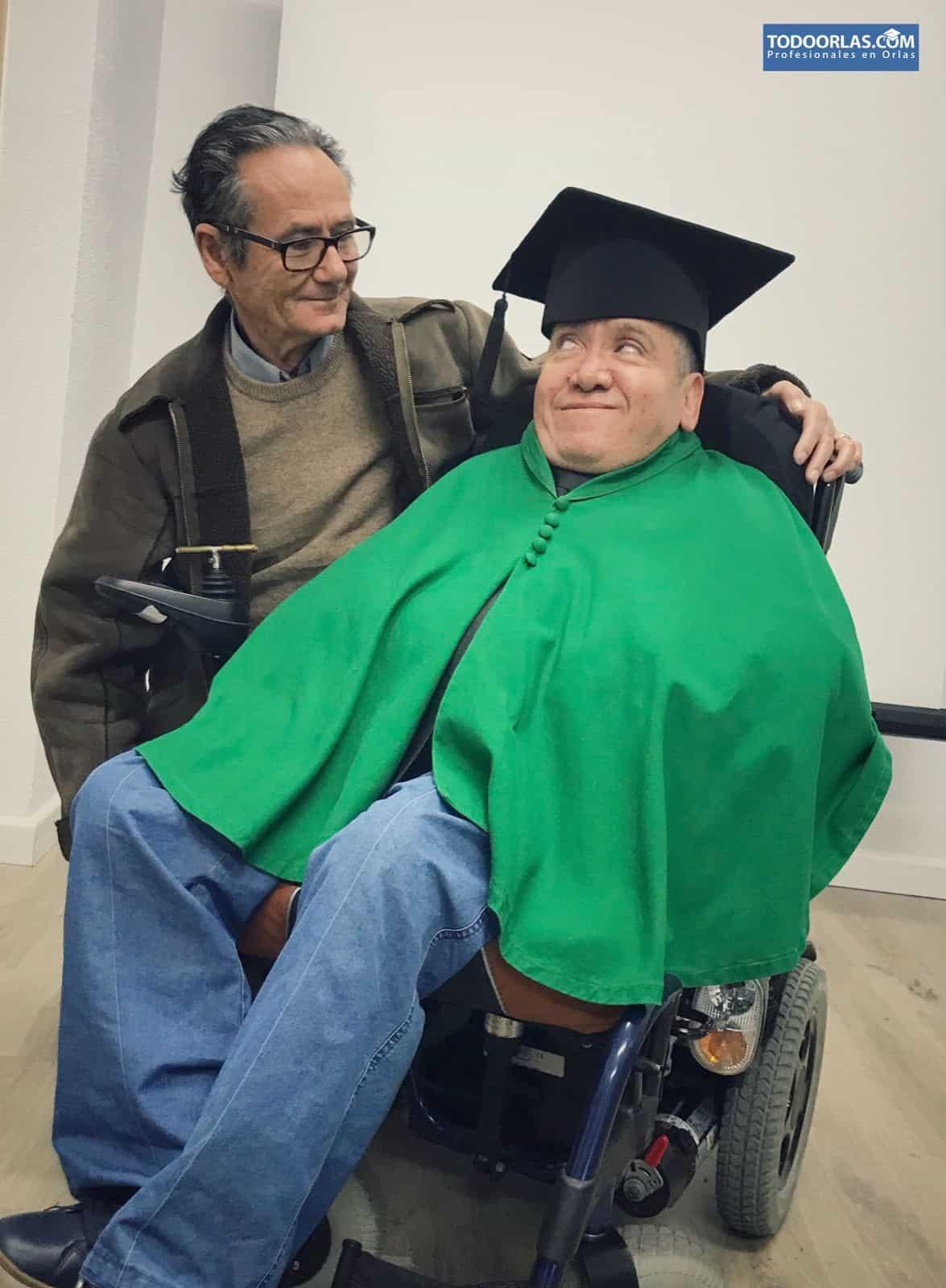 Juan José y su padre en la sesión de fotos