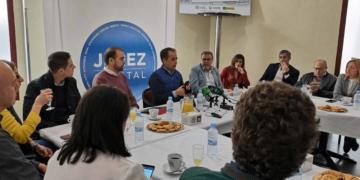 Francisco Zuasti y Antonio Saldaña anunciando la Oficina Técnica de Accesibilidad
