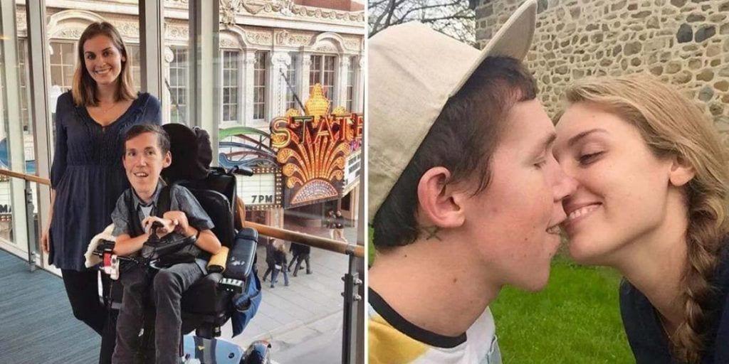 Shane y Hannah dándose un beso