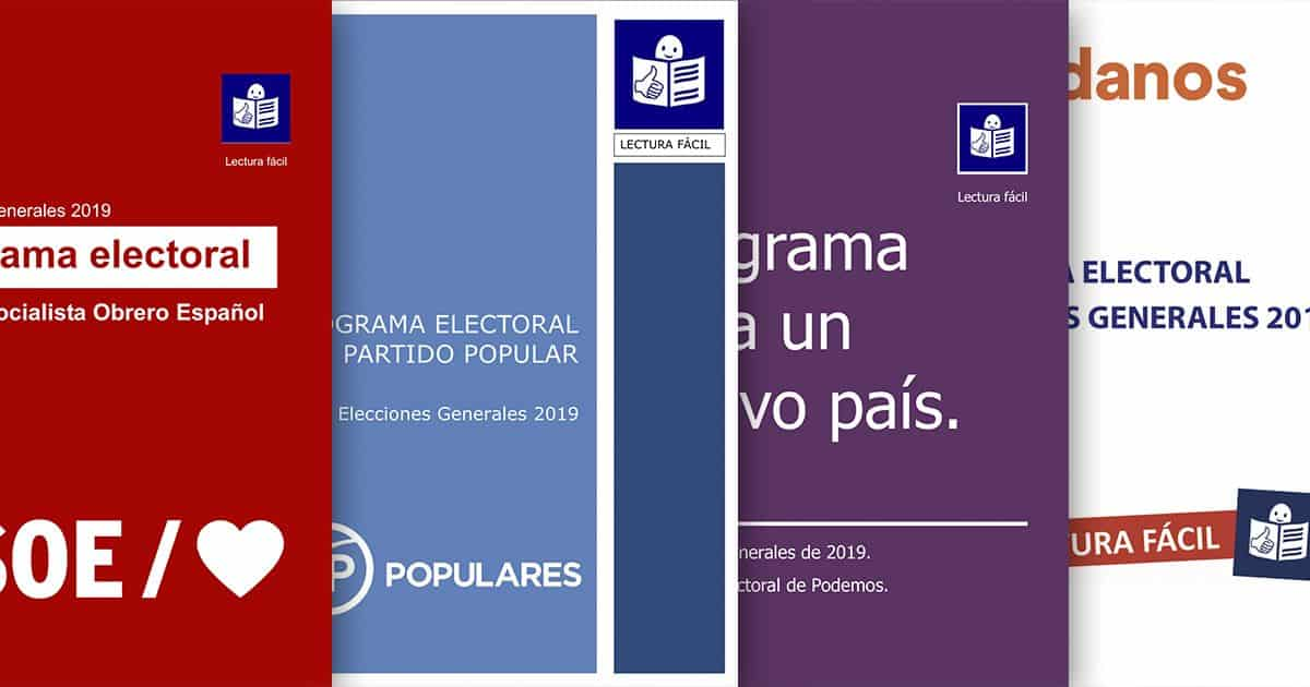 programa electoral lectura fácil
