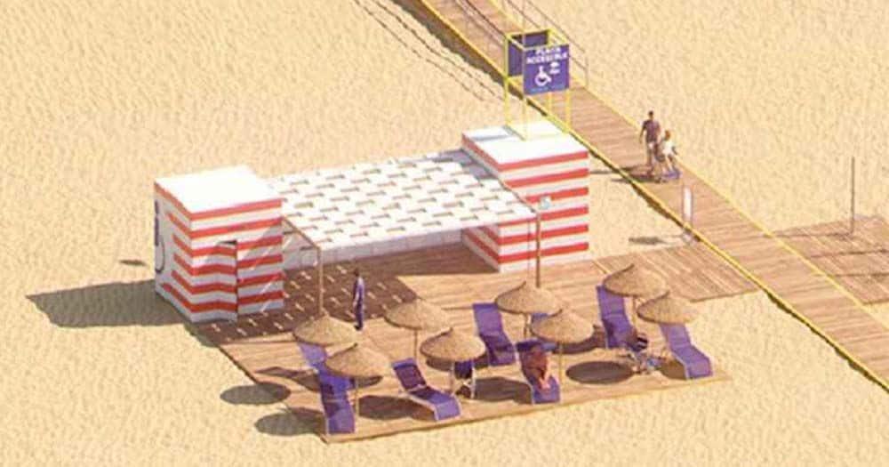 La playa de A Ladeira contará con un área de accesibilidad