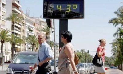 Marcador temperatura 43 grados