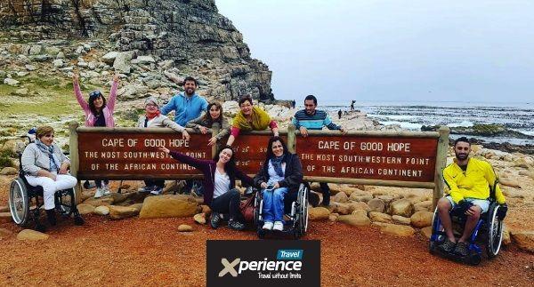 Grupal a Sudáfrica en silla de ruedas.