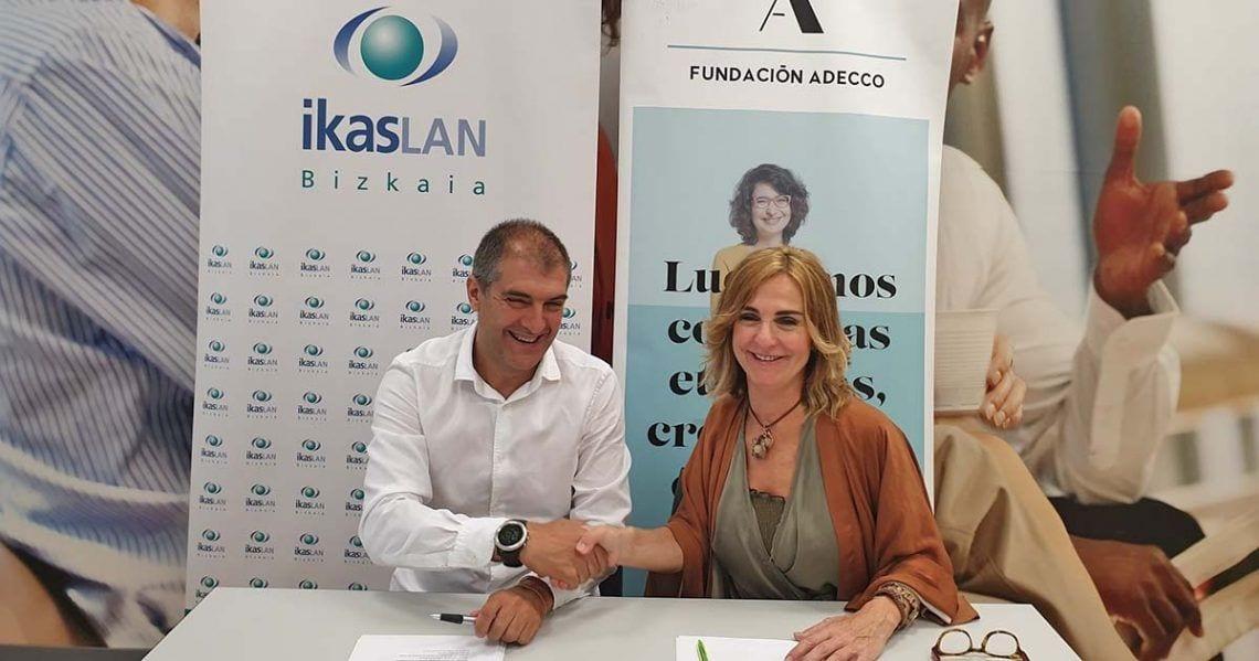 Fundación Adecco e Ikaslan Bizkaia, se unen para impulsar la formación  de personas con discapacidad