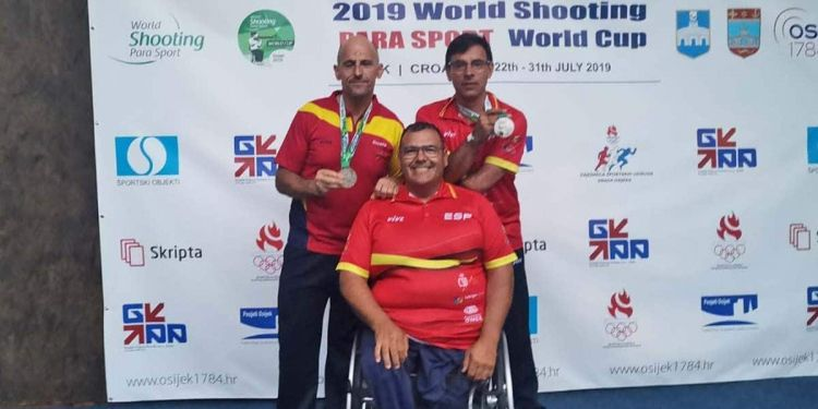 Participantes españoles presentes en el World Shooting Para Sport World Cup
