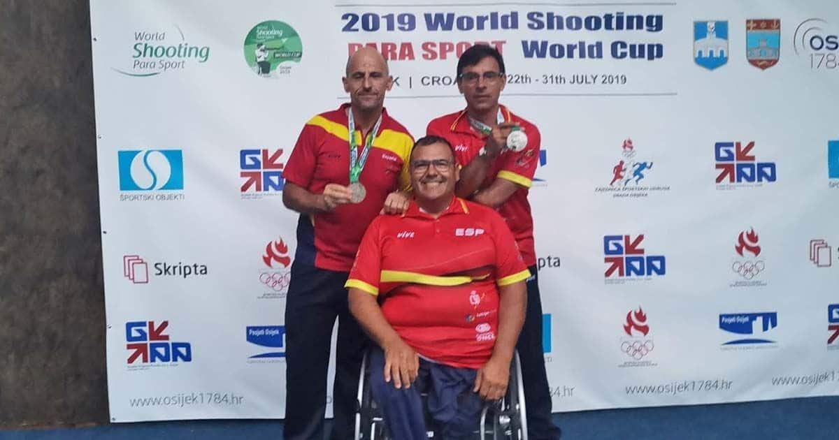 Participantes españoles presentes en el World Shooting Para Sport World Cup