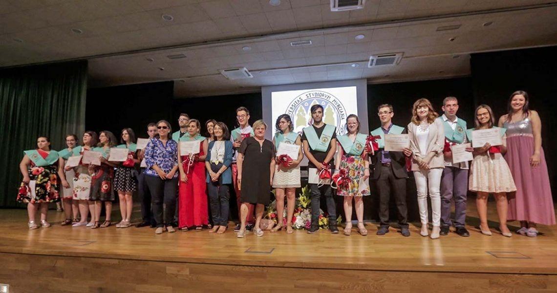 Graduación Jóvenes con discapacidad intelectual técnicas de empleo Universidad de Murcia