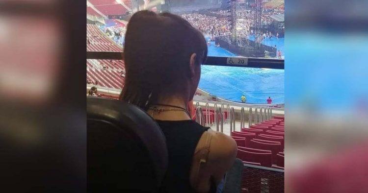 Lorena Bogado en un concierto