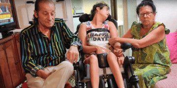 Macarena Gimenez con sus padres