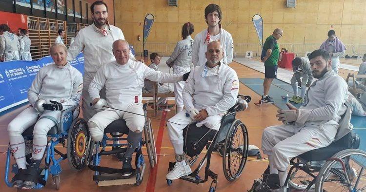 Participantes del campeonato de España de Esgrima en Silla de Ruedas