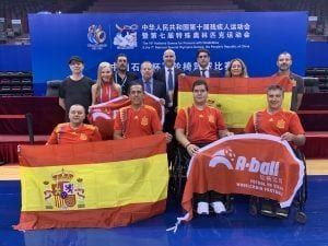 Jugadores selección española de futbol silla