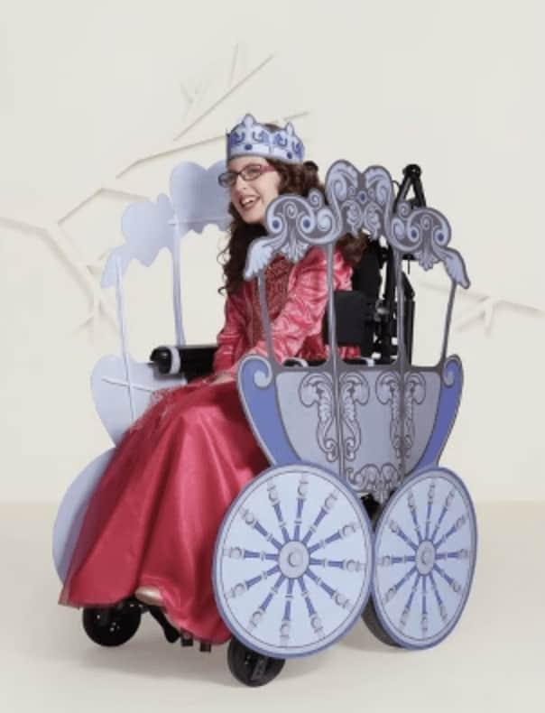 Disfraz carroza en silla de ruedas