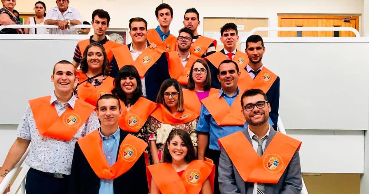 Foto Graduacion de Alunos Univ Alicante curso 2018-2019