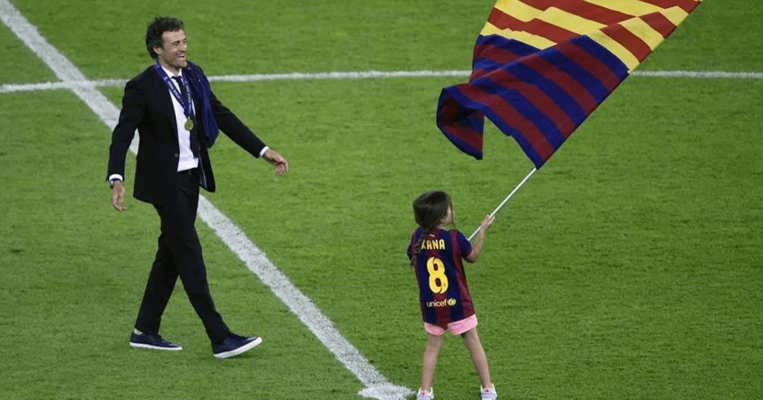 Luis Enrique junto a su hija Xana