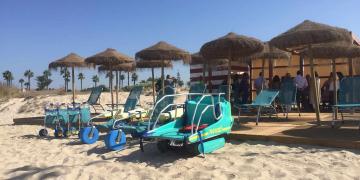 Productos de apoyo playa accesible