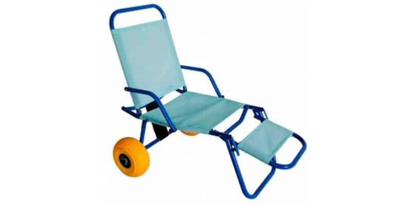 silla con ruedas para orilla
