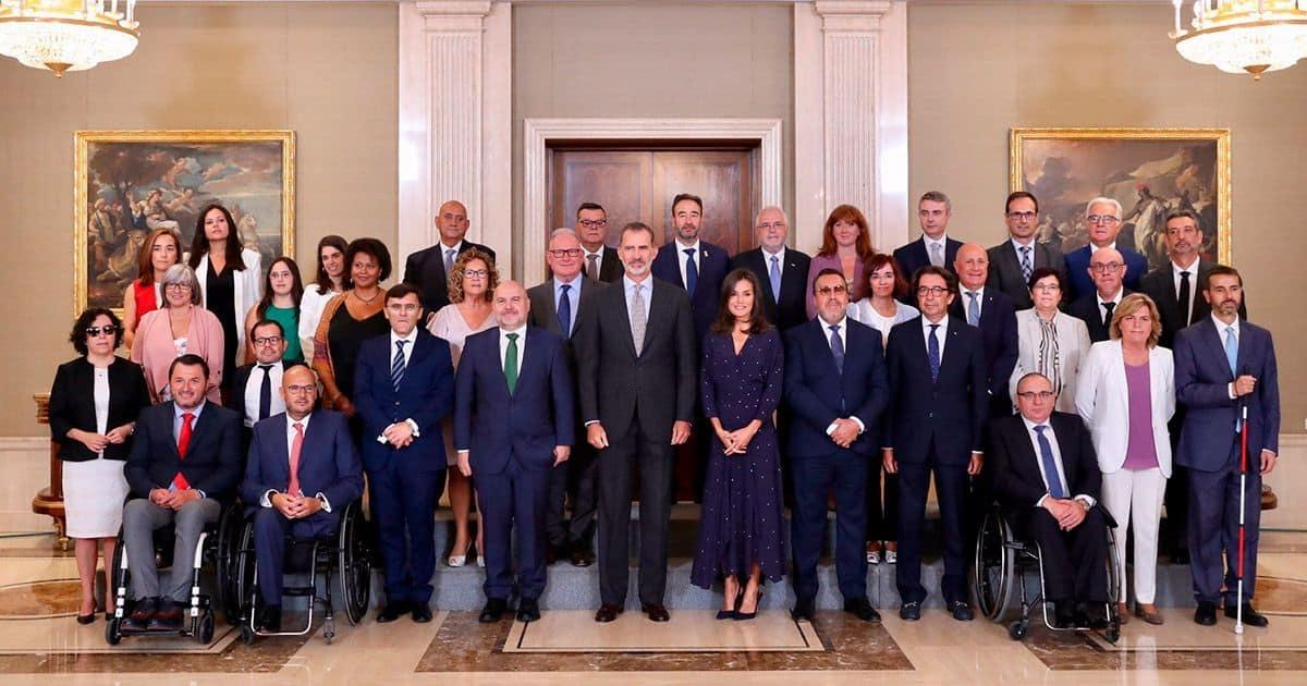 Los Reyes de España con el CERMi