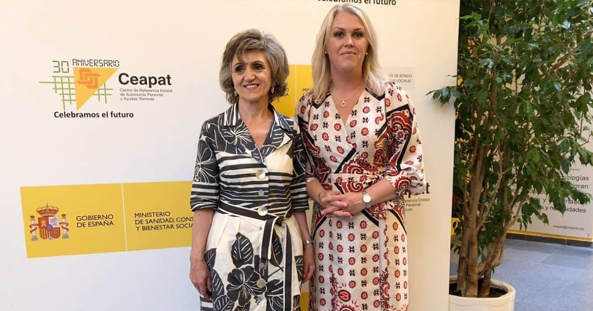 Maria Luisa Carcedo junto a Lena Hallengren