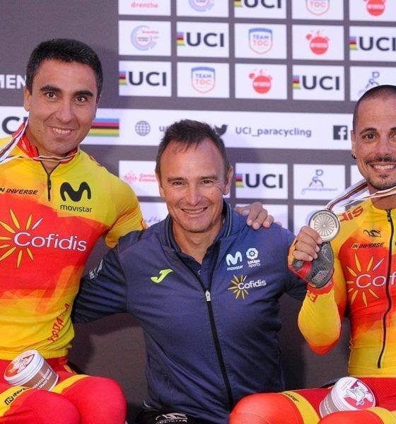 Marquina y Garrote con en entrenador Felix García