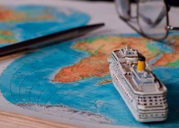 Un barco en un mapa