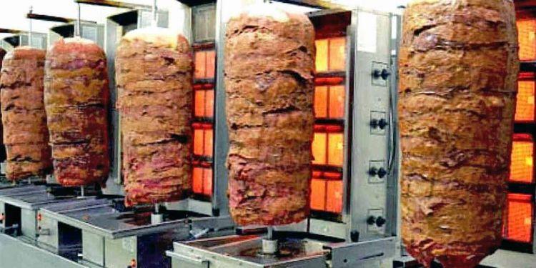 Kebab colgados