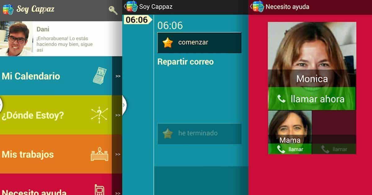 Imágenes de la aplicación 'Soy Cappaz'