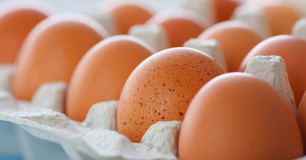 El huevo tiene colina