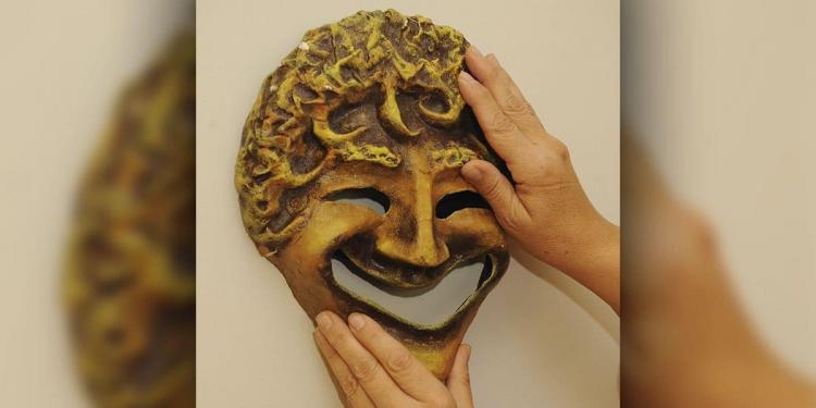 Máscara de teatro griego