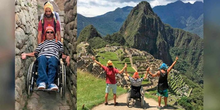 Emiliano Bisson y Philip Stephens en Machu Picchu