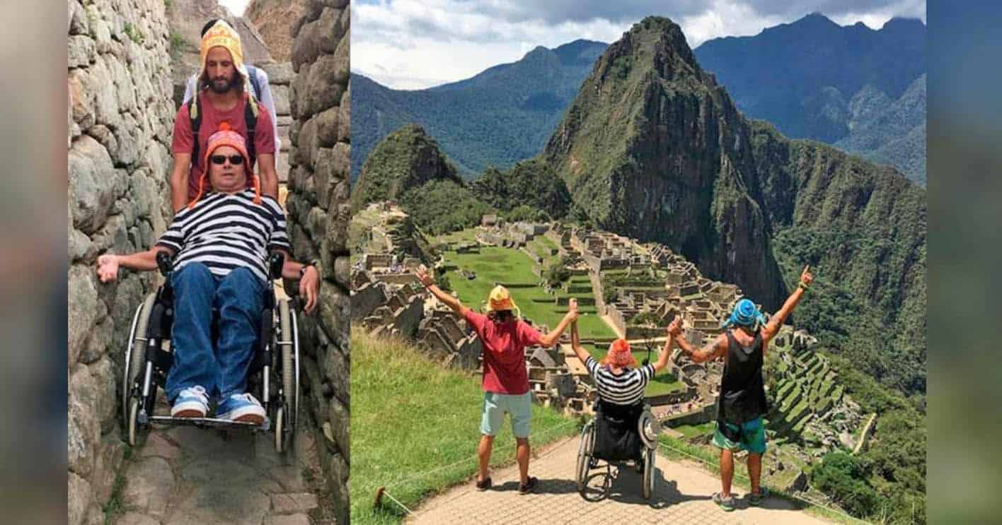 Emiliano Bisson y Philip Stephens en Machu Picchu
