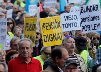 """Manifestación por unas pensiones """"dignas"""" en Madrid"""