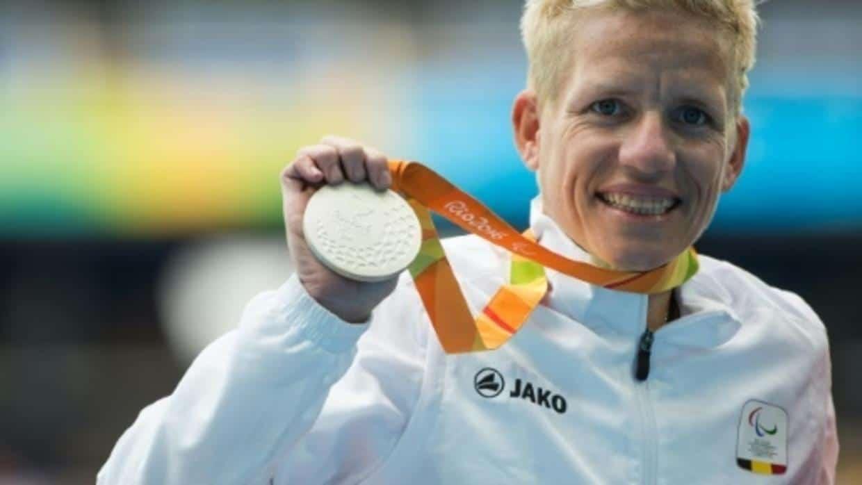Marieke Vervoort con medalla