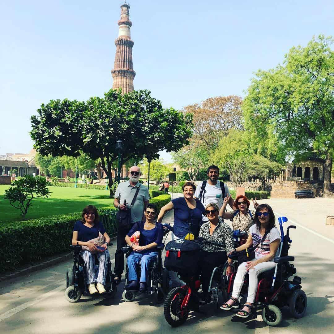 Viaje a la India en silla de ruedas.