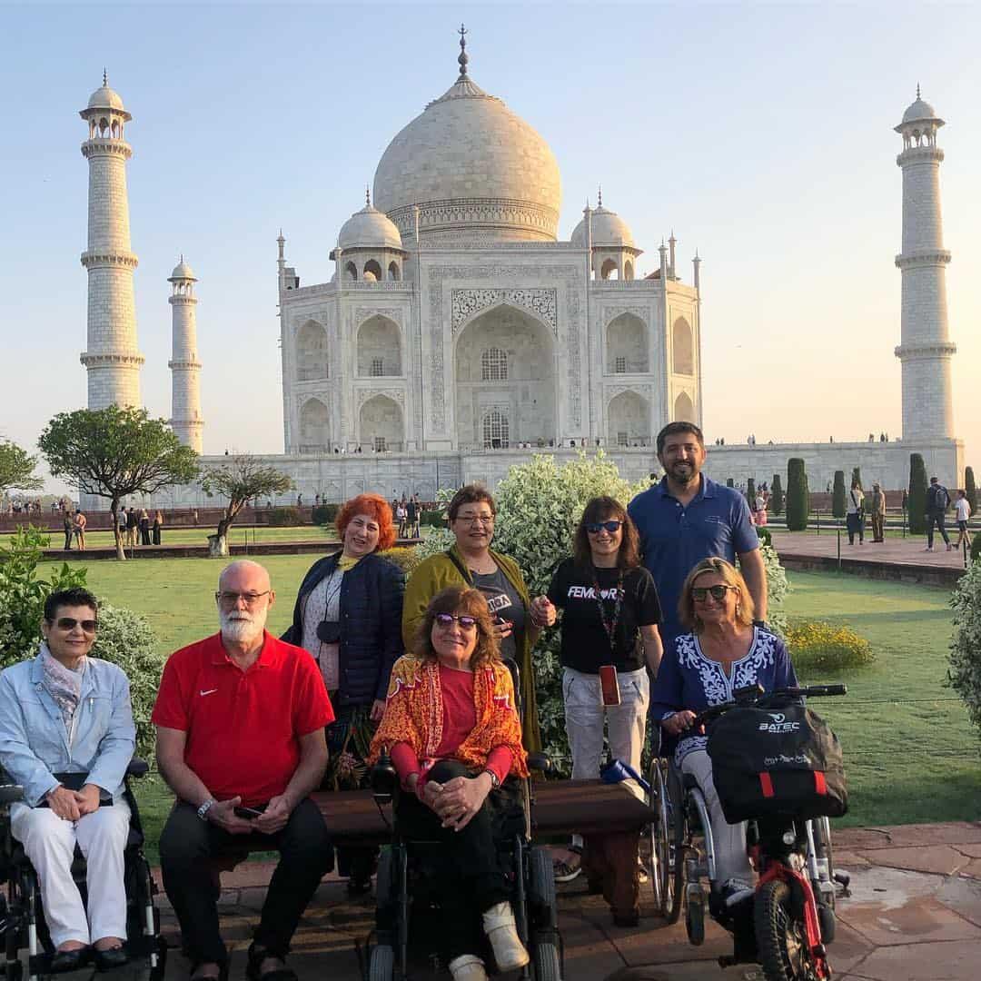 Taj Mahal accesible en silla de ruedas.