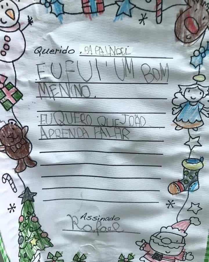 Carta de Rafael a Papa Noel