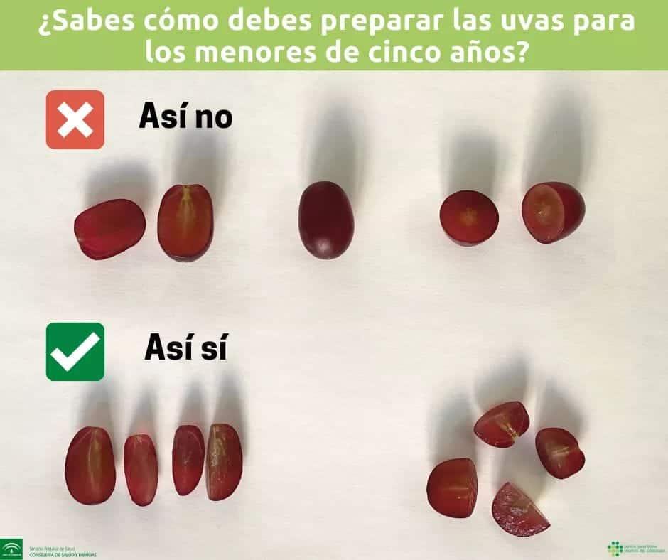 recomendación de como comer uvas