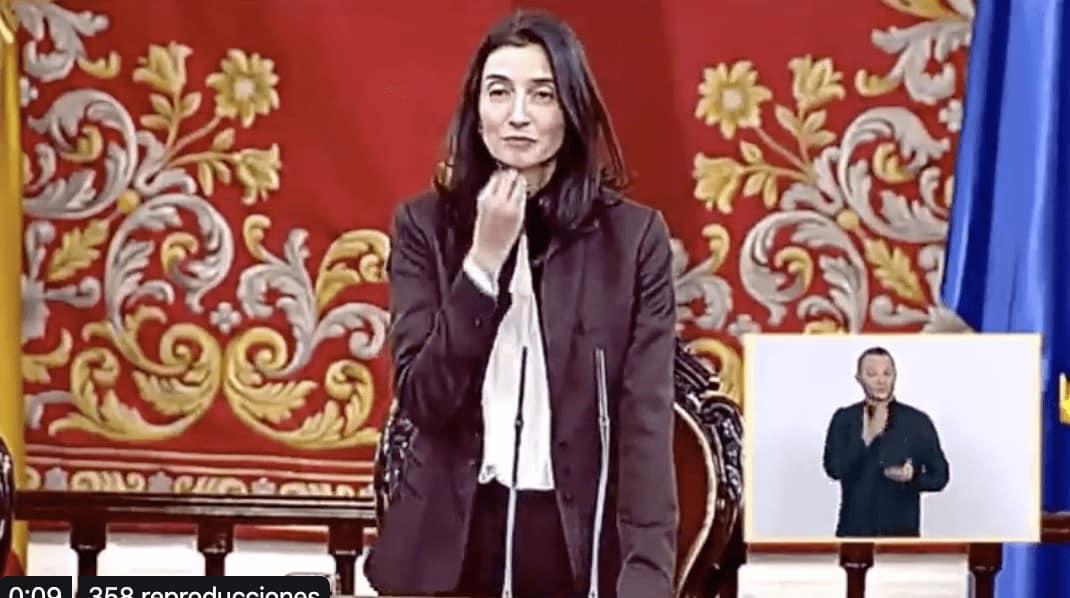 Pilar Llop Senado Lengua de Signos